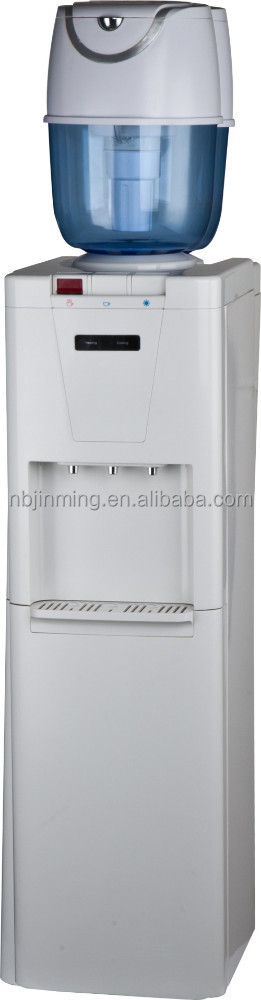 High quality used water dispenser cooler with mini fridge