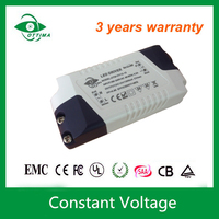CE approved professional 12v 1500ma power supply 24v 18w led driver