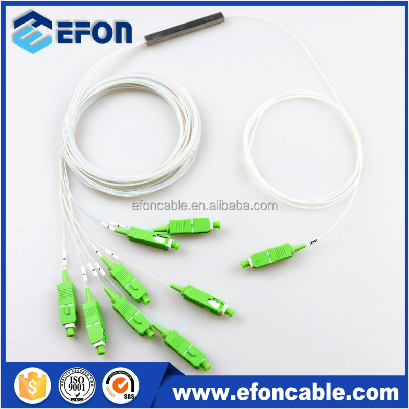 Fiber Optical 1*8 1*16 PLC Splitter , mini tube cassatte package plc splitter