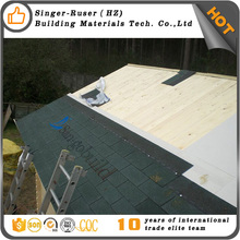 Hangzhou Building Materials Different Types and Colors Tile Philippines Fiberglass Roofing Material 3-tab green asphalt shingles