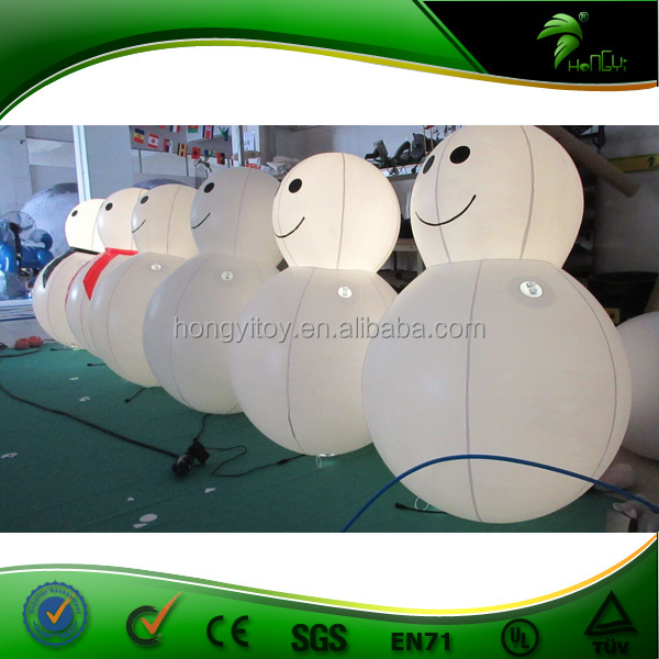 Inflatable Small Snowman With Led Light , Outdoor Christmas Model Inflatable Christmas Products
