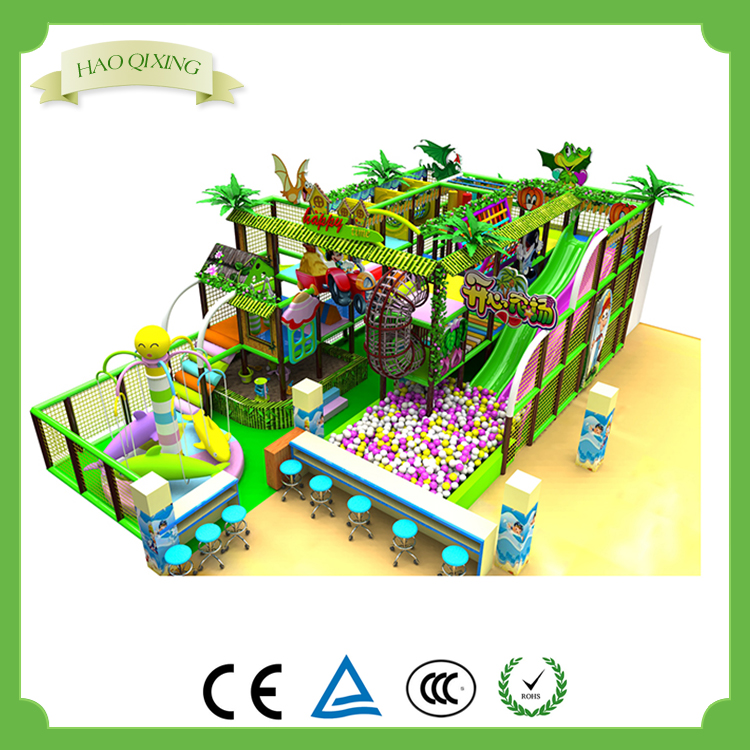 Indoor children's soft play area playground equipment , children's game system structure