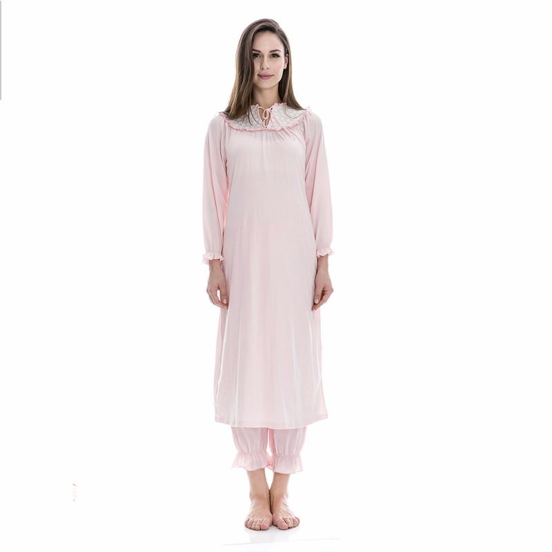 smooth custom printed fancy night dress women simple cotton nighties