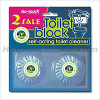 2PK Solid Deodorizing Blue Toilet Cistern Block Toilet Cleaning Block