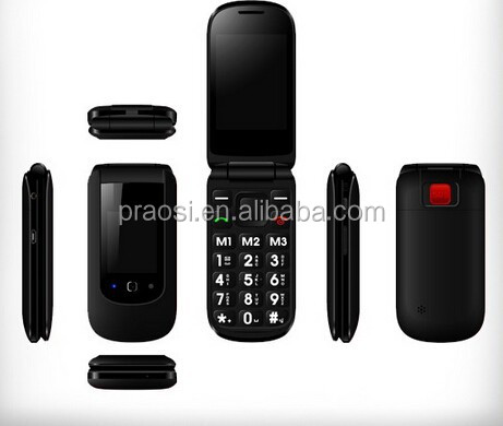 old man 3G Flip cell phone with dual sim large button