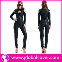 New arrival sexy plus size catwoman costume latex catsuit