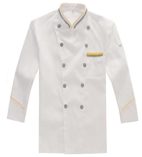 Black White Check Chef Coat Cook Clothes Food Serving Hotel Restaurant Uniform