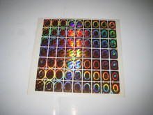 OEM design gold hologram/golden holographic stickers