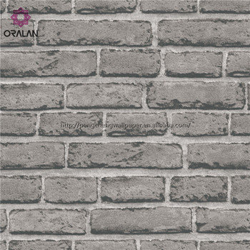 For chinese restaurant and barbershop of brick pattern PVC wallpaper