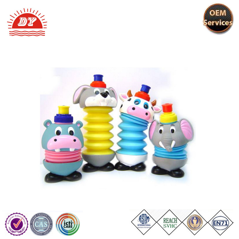 Custom Made Cheap Plastic Cartoon Water Bottle for Kids