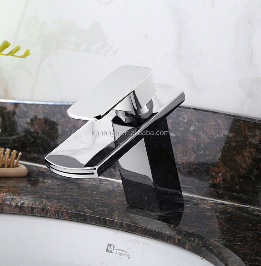 New Bathroom Faucet Waterfall Mixer One Hole/Handle Basin Sink Tap Chrome