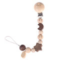 Lovely wooden colorful baby pacifier clip with chain