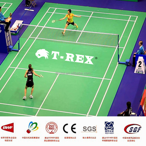 High quality PVC synthetic badminton court flooring mat