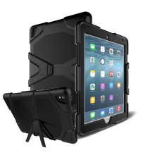 Strong armor Rugged Kickstand PC TPU Tablet Cover Case For Ipad 234 air 2 mini 2 3 4 pro 9.7 12.9 cases