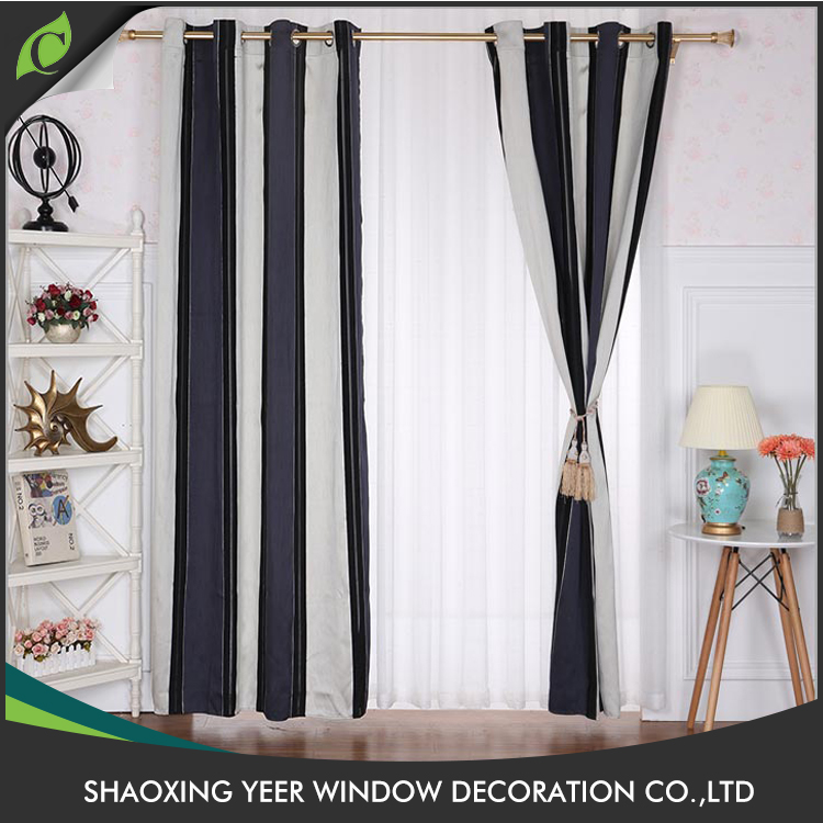 Hot sale modern classical block out one way curtains for manufactured home