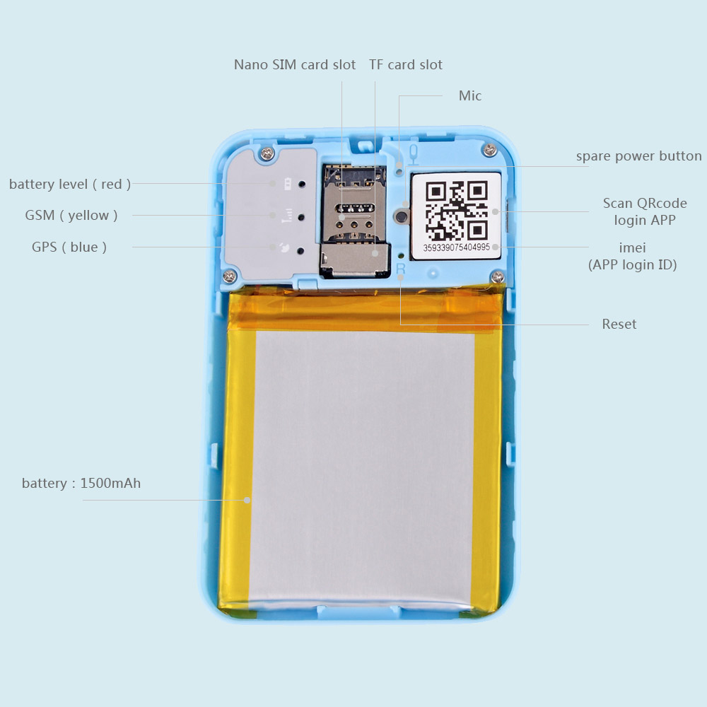 New Arrival Long Standby Sos Student Card  Mini Portable Smart ID Card GPS Tracker With Free Life Time Platform and App Support