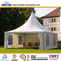 Small 3x3,4x4,5x5,6x6,8x8,10x10m Aluminum Structure PVC White Garden Outdoor Wedding Party Marquee Pagoda Canopy Tent for Sale