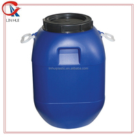 HDPE sealed cover food grade used blue plastic barrel drums