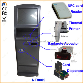 Customized touchscreen self interactive payment kiosk on sale