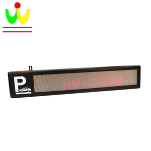Dot Matrix Display Led Programmable Scrolling Message Parking Guidance Screen