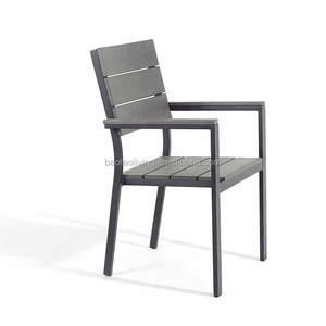 Outdoor dining aluminum polywood chair