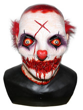 halloween prop Latex costume Scary Clown mask for party accessory