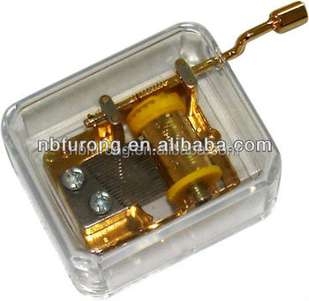 New design hand crank music box With gold plating hand crank music box