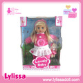 Hot sell15 inch baby singing speaking girl dolls with flashing light clothes kids gift.