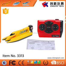 High speed plastic mini rc boat toy