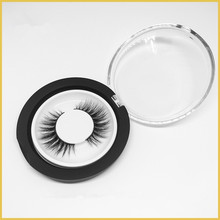 100% Hand Made Invisible Band Human Hair False strip Eyelashes with custom package