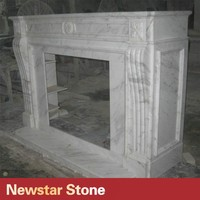 Manufacture Natural White Marble Fireplace