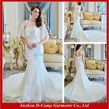 WD052 Two piece lace mermaid wedding dress patterns