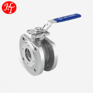 High quality free sample stainless steel 1PC wafer flange ball valve mounting pad