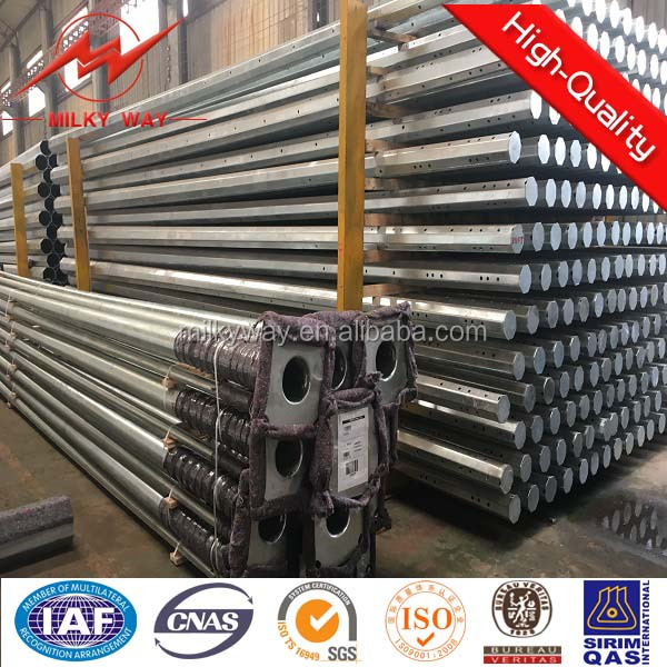 40ft 3mm thickness electric galvanized steel poles made in china for Cebu