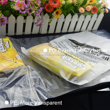 hot custom material clear hdpe and ldpe plastic bag supermarket good for shopping