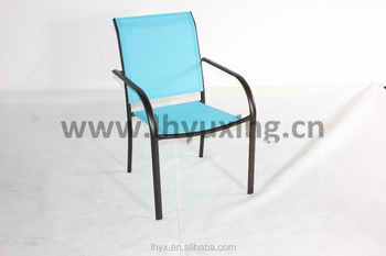 Patio Stackable Sling Chair Blue Buy Sling Chair Patio