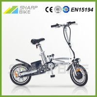 16 inch 36v 250w light weight aluminum portable pocket bike with 3 speed gears
