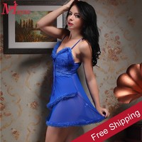 sexy ladies blue transparent babydoll lingerie beautyslove newest nude back babydolls lady short nighty
