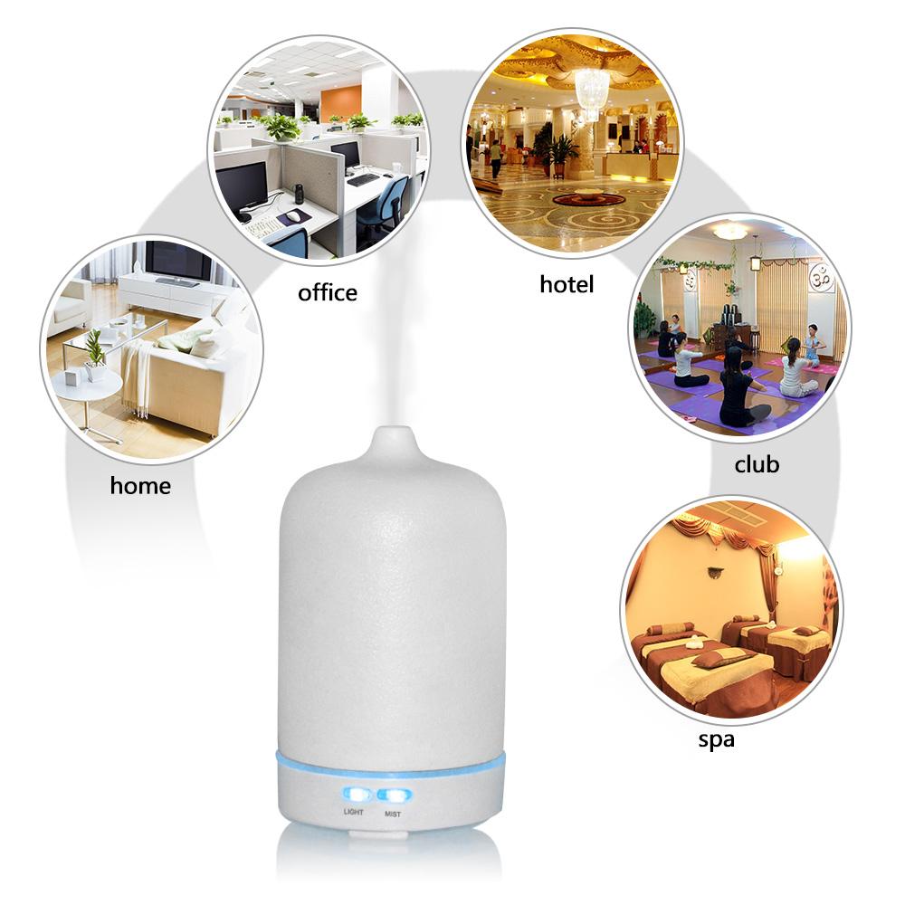 100 мл ароматерапия ультразвуковой аромат увлажнитель воздуха белый керамический электрический ароматический диффузор