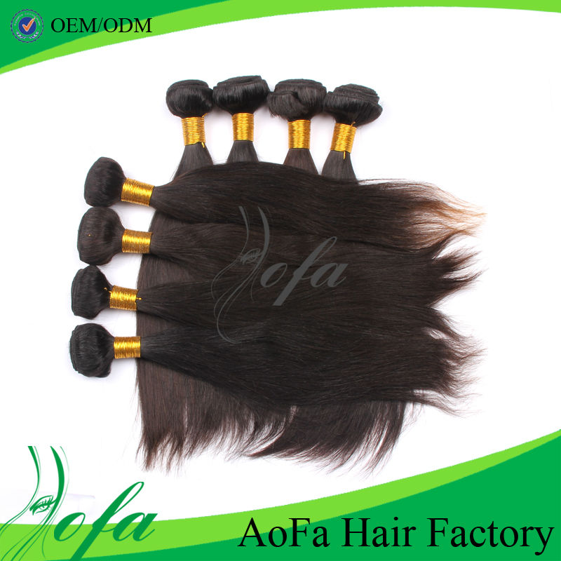 Best quality silky straight china wholesale 100 remi milky way silky straight human hair weft