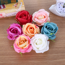 Zero 7 Different Colors Rose Heads Wholesale Silk Big Rose Flower Heads Artificial For Decoration
