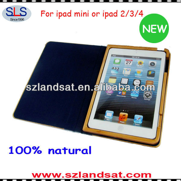 2015 new product wood wallet case for mini ipad IBC07A