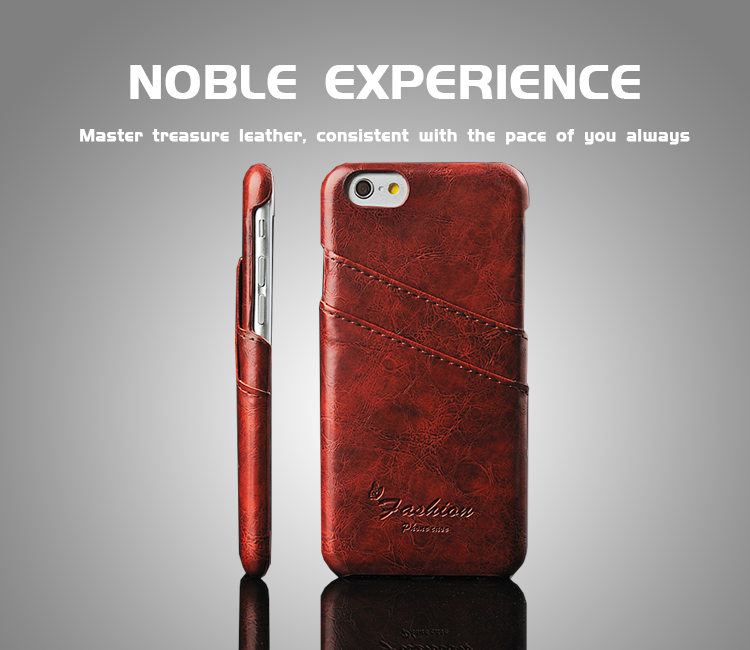 Wholesale customized pu leather card holder cell phone case for iphone 6
