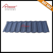 3 tab shingle material stone coated metal roof tile for villa/house/hotel