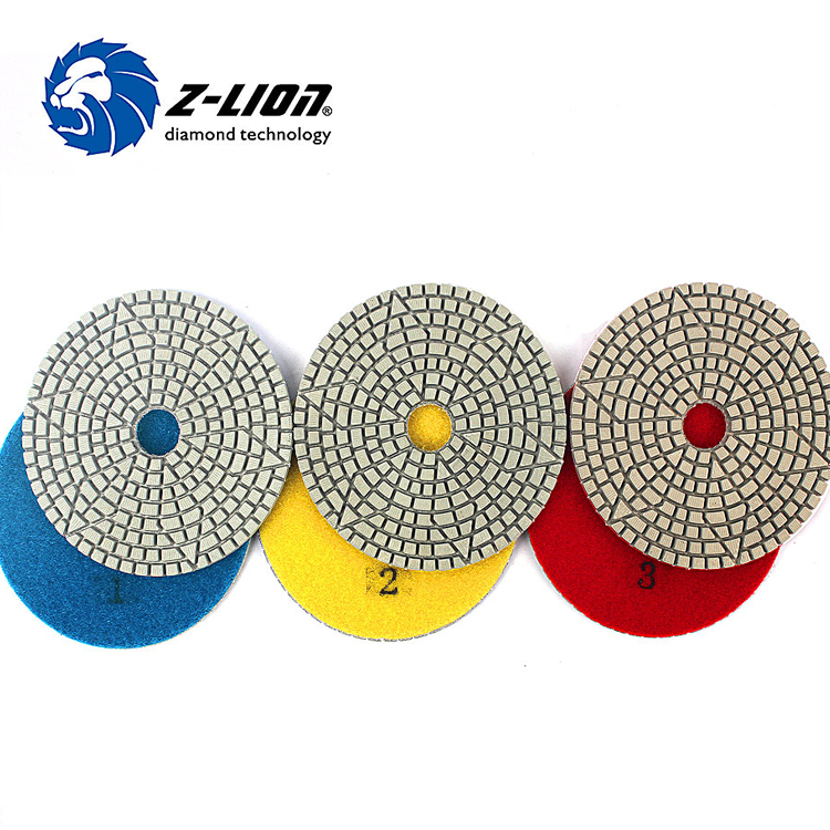 3 Step Polish Pad 4 Inch 100mm Abrasive Disc Diamond Tool For Stone Marble Granite Tile Grinding