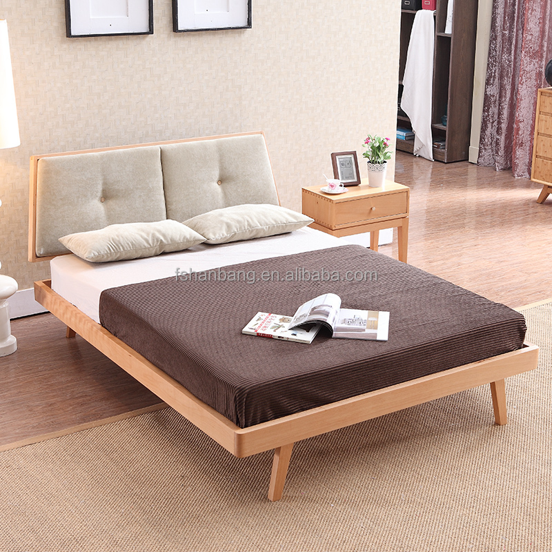 New Contemporary Solid Wood Scandinavian Bedroom <strong>Furniture</strong>