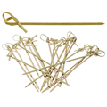Disposable party supplies cocktail curly picks knotted/teppo/loop skewer