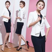 New Fashion Womens Long Sleeve Solid Slim Casual Suit Jacket Blazer Coat