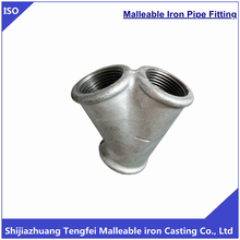 Galvanized Malleable Iron 45 Degree Lateral Tee