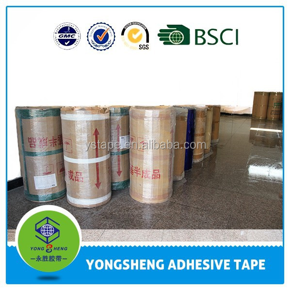 Hot melt adhesive tape jumbo roll with different colors